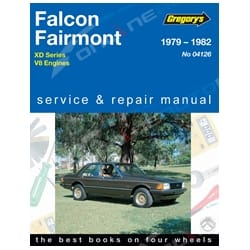 Gregory's Workshop Repair Manual Ford Falcon Fairmont V8 Engines 1979 to 1982 | 04126