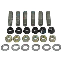 Front or Rear Axle Hub Stud Bolt Nut Kit suits Toyota HZJ78 HZJ79 HDJ78 HDJ79 | ZPN-03185