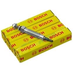 4 Bosch Glow Plugs Mitsubishi Delica P25W Diesel 4D56T 4M40 2.5L 2.8L 4cyl 1989 1990 1991 1992 1993 1994 1995 1996 | GPF117-X-4