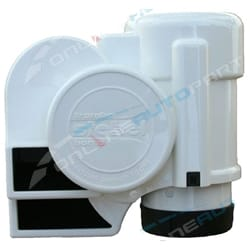 12v Stebel Nautilus Compact Tuning Marine Boat Air Horn Kit - Water Resistant ABS White Plastic