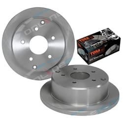 2 Rear Disc Brake Rotors + Pads Commodore VT VX VU VY VZ Holden Sedan Wagon Ute | ZPN-03411