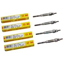 4 Bosch Diesel Glow Plugs suits Toyota Hiace LH50 LH51 4cyl 2.2L L 2.4L 1982 to 1989 | ZPN-15355