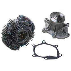 Fan Clutch + Water Pump suits Toyota Landcruiser FZJ80 80 Series 6cyl 1FZ-FE 4.5L Petrol Engine 1992 to 1998 | ZPN-14504