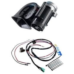 Stebel Nautilus Compact Truck Car Air Horn 12volt 300Hz Deep 110Db Sound + Relay + Wiring Kit | ZPN-01828