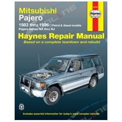 Haynes Car Repair Manual Book Pajero 1983-1996 NA NB NC ND NE NF NG NH NJ NK NL Mitsuibishi 4wd | 68765