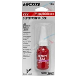 Loctite 222 Super Screw Lock Low Strength Threadlocker 10ml Bottle | 22220