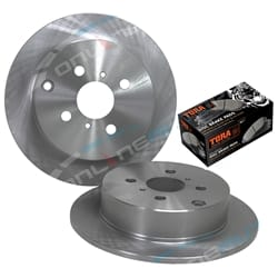 2 Rear Disc Brake Rotors + Pads suits Toyota Corolla ZZE122R 1.8L Japan Made Model 2001 to 2007 | ZPN-16570