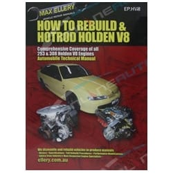 How to Rebuild Hotrod + Holden 253 308 V8 Engine Book HDT HSV Brock Max Ellery