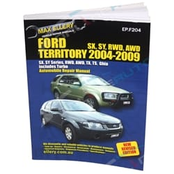 New Workshop Repair Manual Book Ford Territory 2004-2009 RWD AWD 4x4 SX SY TS TX | EPF204