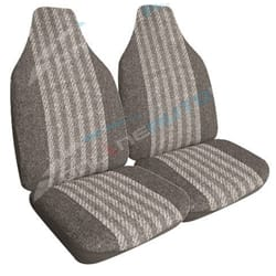 Universal Front Car Seat Covers Streetwize Classic Grey Size 60/25 Pair