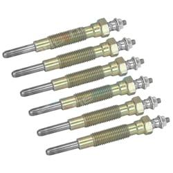 6 Glow Plugs 24 Volt Patrol GQ 1988-1999 Diesel 6cyl TD42 4.2L 4169cc Nissan Engine
