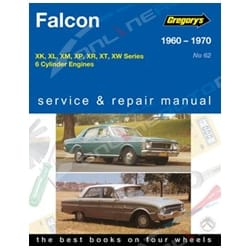 Gregory's Workshop Repair Manual Ford Falcon XK XL XM XP XR XT XW 6Cylinder 1960 to 1970 | 04062
