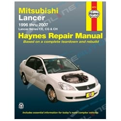 Haynes Car Workshop Repair Manual Lancer + Mirage CE CG CH 1996-2008 Mitsubishi | 68751