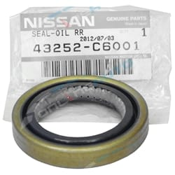 Genuine Nissan Rear Inner Left or Right Axle Oil Seal suits Nissan Patrol GQ 1988 to 1999 | 43252-C6001