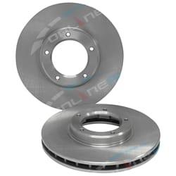 2 Disc Brake Rotor suits Toyota Hilux 2wd 97-02 RZN147 RZN149 LN147 LN149 LN152 LN156 | ZPN-02061