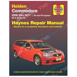 Haynes Car Repair Manual Book Commodore VE & VF 2006-2017 V6 + V8 Engines incl Berlina Omega Holden | 41744
