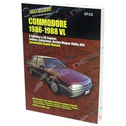 Repair Book Holden Commodore VL 6cyl + V8 Workshop Manual - Max Ellery incl Turbo Models 1986 1987 1988