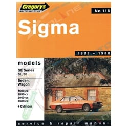 Gregory's Workshop Repair Manual Book Chrysler Sigma GE 4 Cylinder Sedan Wagon 1978 1979 1980 | 04116