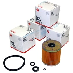 4 Primary Diesel Fuel Filter suits Landcruiser 1HZ 4.2L 1PZ 3.5L Engine - F1106 Cartidge Type
