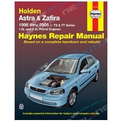 Haynes Car Repair Manual Book Astra TS 1998-2005 CD CDX City Equipe 1.4L 1.6L 1.8L 2.0L 2.2L Engine | 41710