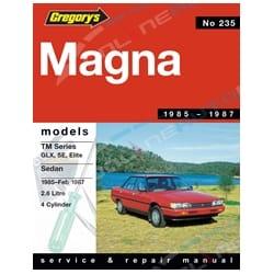 Gregory's Workshop Repair Manual Book suits Mitsubishi Magna TM 2.6L 4 Cylinder 1985 1986 1987   04235