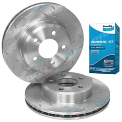 2 Front Disc Rotors+Bendix Brake Pads Falcon BA BF FG XT 2002-2012 Ford Fairmont Fairlane