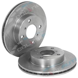 2 New Front Disc Brake Rotors Suzuki Baleno SY416 ONLY 1.6L Models GA GL GLX GS 4/1995 to 2001 LH+RH