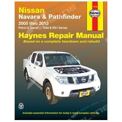 Haynes Car Repair Manual Book Navara D40 2005-2013 4.0L VQ40DE Petrol + 2.5L YD25DDTi Diesel | 72732