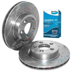 2 Front Drilled Slotted Disc Rotor Bendix Brake Pads BF FG XR6 Turbo XR8 5.4L V8