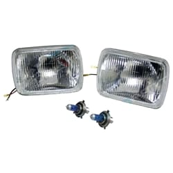 H4 Headlight Upgrade Kit suits Toyota Hilux Ute 83~05 2 Lamps Rectangle Hi Watt 60w/55 Globes | ZPN-03873