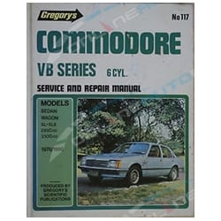 Gregory's Workshop Repair Manual Book Holden Commodore VB 6Cylinder 1978 1979 1980 | 04117