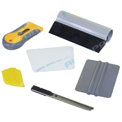 6pc Professional Window Tint Tools Kit for House / Office Film Squeegy Knife Set | TTKSML