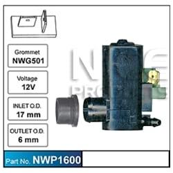 Window Washer Bottle Pump Motor Windcreen Washer Pump Aftermarket OEM Replacement | ZPN-32879