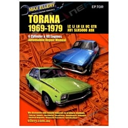 Workshop Repair Manual Holden Torana LC LJ LH LX UC Max Ellery Book XU1 A9X L34