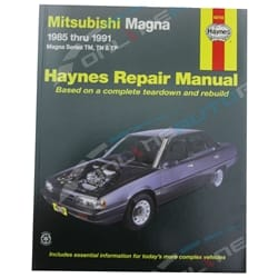 Haynes Car Repair Manual Book Magna TM TN TP 1985-1992 Sedan + Wagon Mitsubishi | 68755