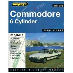Gregory's Workshop Repair Manual Book Holden Commodore VL 3.0L 1986 1987 1988   04238