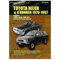 Workshop Repair Manual Book suits Toyota Hilux 4x4 2.8L 3L LN106 LN107 LN111 LN130