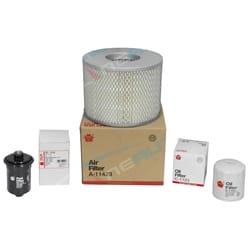 Air, Oil & Fuel Filter Kit suits Toyota Prado VZJ95R 3.4L V6 Landcruiser 5VZ-FE 3378cc 1996 to 2002 | FKTPVZJ95R