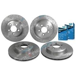 Front & Rear Rotors + Pads Disc Rotor Tora + Bendix GCT