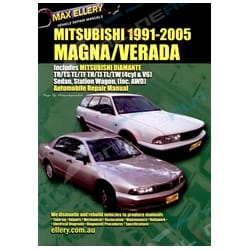 Workshop Repair Manual Mitsubishi Magna Verada 1991-05 TR TS TE TF TH TJ TL Book