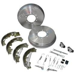 Rear Brake Drums + Shoes + Wheel Cylinders Kit suits Hilux GGN25R KUN26R 4X4 1KD-FTV 1GR-FE 3.0L 4.0L 2005 to 2016 Toyota | ZPN-30998