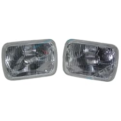 Semi Sealed H4 Glass Headlight Set suits Hilux RWD 4X4 Ute 1978~2005