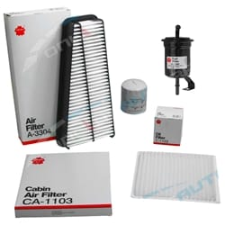 Air, Oil, Fuel & Cabin Filter Kit suits Toyota Prado GRJ120 V6 1GR-FE 4.0L Landcruiser 2003 to 2009