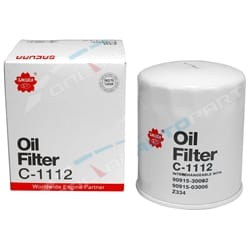 Oil Filter Sakura C1112 (Z334) suits Toyota Landcruiser 1HZ 1HDT 4.2L 70 80 100 Series Diesel | ZPN-01416