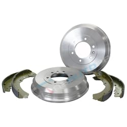 2 Rear Brake Drums + Shoes Kit Holden Rodeo RA 4X4 2003 2004 2005 2006 2007 2008 | ZPN-24734