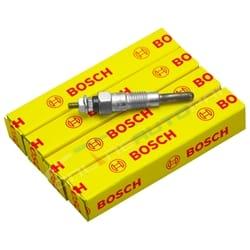 Set of 4 Bosch Glow Plugs fit Nissan 720 1983-1985 Diesel 4cyl SD23 2.3L Engine Datsun Ute | ZPN-14303
