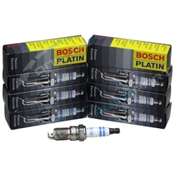 8 x Spark Plugs - Bosch Double Platinum Fit Ford Falcon XR8 BA BF FG 2003-2012   ZPN-13743