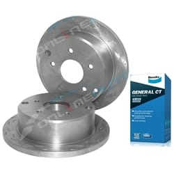 2 Rear Slotted+Dimpled Disc Rotors + Bendix Brake Pads Holden Commodore VT VX VU VY VZ V6 V8