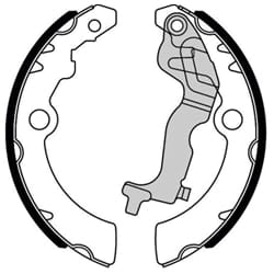 Brake Shoes Lining (Rear) Brake Bonders | N1967