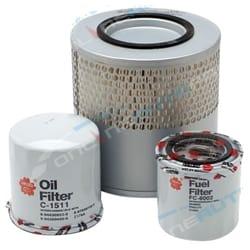 Air Oil Fuel Filter Kit fit Holden Rodeo TFR55 TFS 1990-2003 4cyl 4JB1-T 2.8L Sakura | ZPN-14754